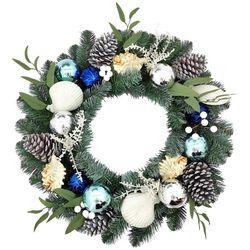 Brighten the Season 24'' Sea Shell & Ornament Wreath