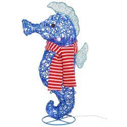 Brighten the Season LED Seahorse & Scarf Tabletop