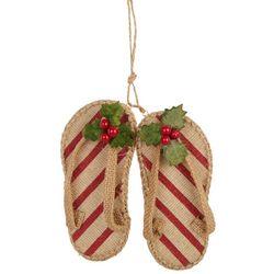 Brighten the Season Mistletoe Flip Flops Ornament