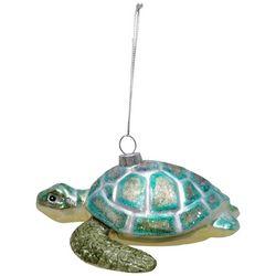 Brighten the Season Sea Turtle Glittered Shell Ornament