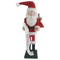 Santa Claus List Nutcracker Figurine