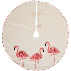 Triple Flamingo Tree Skirt