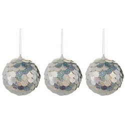 3-pc. Sequin Scale Ornament Ball Set