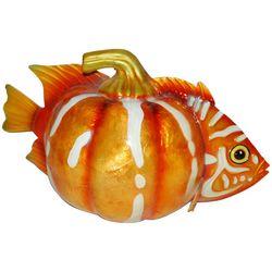 Capiz Fish Pumpkin Decor