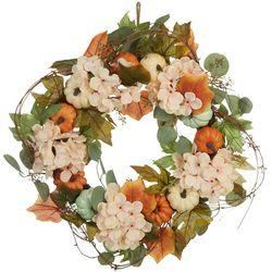 Pumpkin Hydrangea Wreath