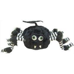 Furry Pumpkin Spider Decor