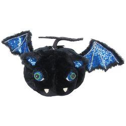 Furry Pumpkin Bat Decor