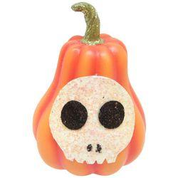 Mini Pumpkin Skull Decor