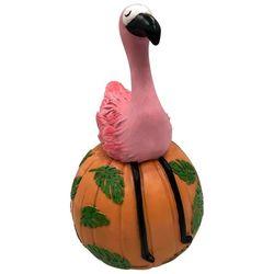 Sitting Flamingo Pumpkin Decor