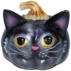 Brighten the Season Capiz Cat Pumpkin Decor