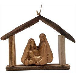 Brighten the Season Holy Family Driftwood Ornament