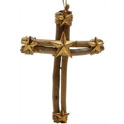 Brighten the Season Driftwood Cross Ornament