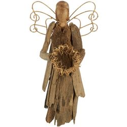 Brighten the Season Driftwood Angel Figurine