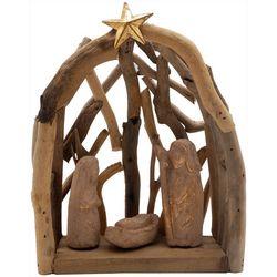 Brighten the Season Holy Family & Star Driftwood Figurine
