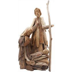 Brighten the Season Holy Family Driftwood Figurine