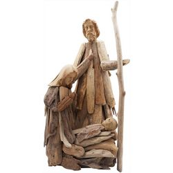 Holy Family Driftwood Figurine