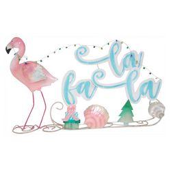 Flamingo Falala Sleigh Decor