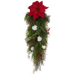 Poinsettia Shell Drop Decor