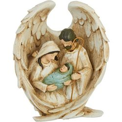 Brighten the Season Holy Family Angel Wings Figurine