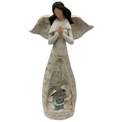 Brighten the Season Angel & Holy Family Figurine