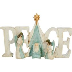 Brighten the Season Holy Family Peace Figurine