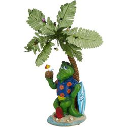 Brighten the Season Gator Palm Tree Figurine