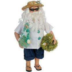 Brighten the Season Coastal Santa Figurine