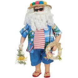 Beach Santa & Wreath Figurine