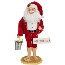 Santa Gone To The Beach Figurine