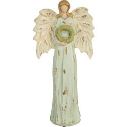 Brighten the Season Angel & Wreath Figurine
