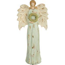 Brighten the Season Angel & Wreath Figurine