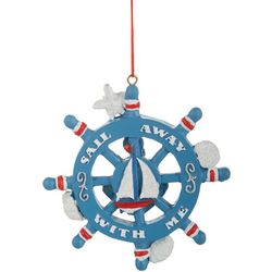 Sail Away With Me Ship Wheel Ornament