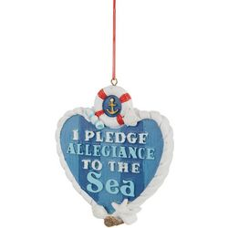 Brighten the Season I Pledge Allegiance Heart Ornament