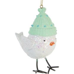 Brighten the Season Bird & Hat Ornament