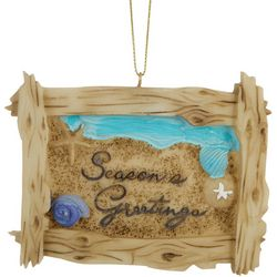 Season's Greetings Sign Ornament