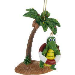 Palm Tree & Gator Ornament