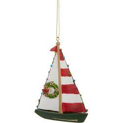Boat & Wreath Ornament
