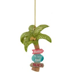 Brighten the Season Palm Tree Tiki Signs Ornament