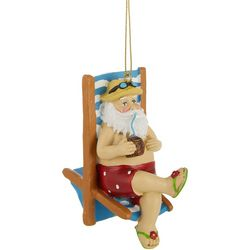 Santa & Beach Chair Ornament