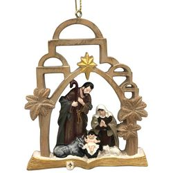 Brighten the Season Holy Family Palm Tree Ornament