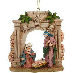 Brighten the Season Holy Family & Columns Ornament