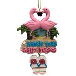 Brighten the Season Flamingos Sandy Toes Ornament