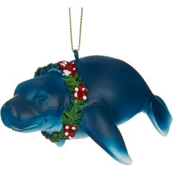 Manatee Flower Necklace Ornament