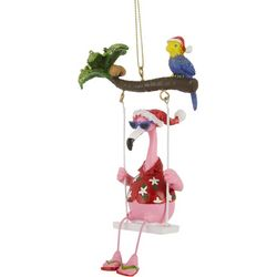 Flamingo Swing & Bird Ornament