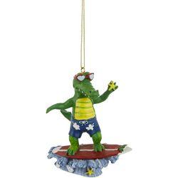 Brighten the Season Gator & Surfboard Ornament