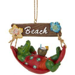 Brighten the Season Gator & Hammock Ornament