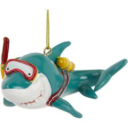 Brighten the Season Diving Shark Ornament