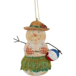 Brighten the Season Beach Snowman Ornament