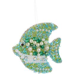 Brighten the Season Sequin & Pearl Fish Ornament