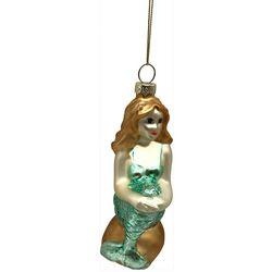 Brighten the Season Mermaid Sitting On Rock Ornament